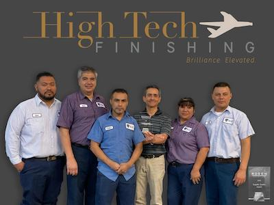 HighTech Finishing team receives supplier award from Rosen Aviation