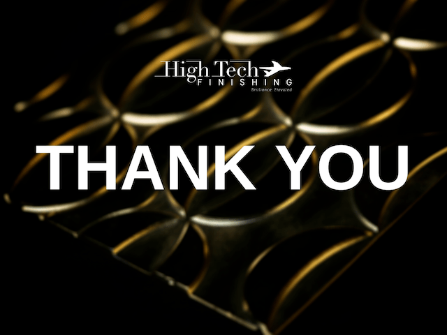 HighTech Finishing thanks our customers for being part of our success story in 2020 providing aircraft interior parts plating