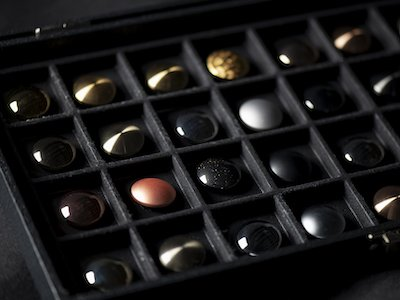 HighTech Finishing color selection box, including chrome vs. nickel plating options for aircraft interior parts
